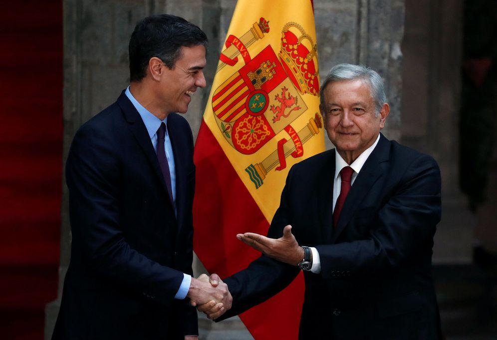 Foto: Pedro Sánchez y el presidente de México, Andrés Manuel López Obrador, este 30 de enero en el Palacio Nacional, Ciudad de México. (Reuters)
