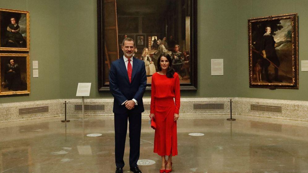Foto: Los Reyes, en el Museo del Prado. (EFE)