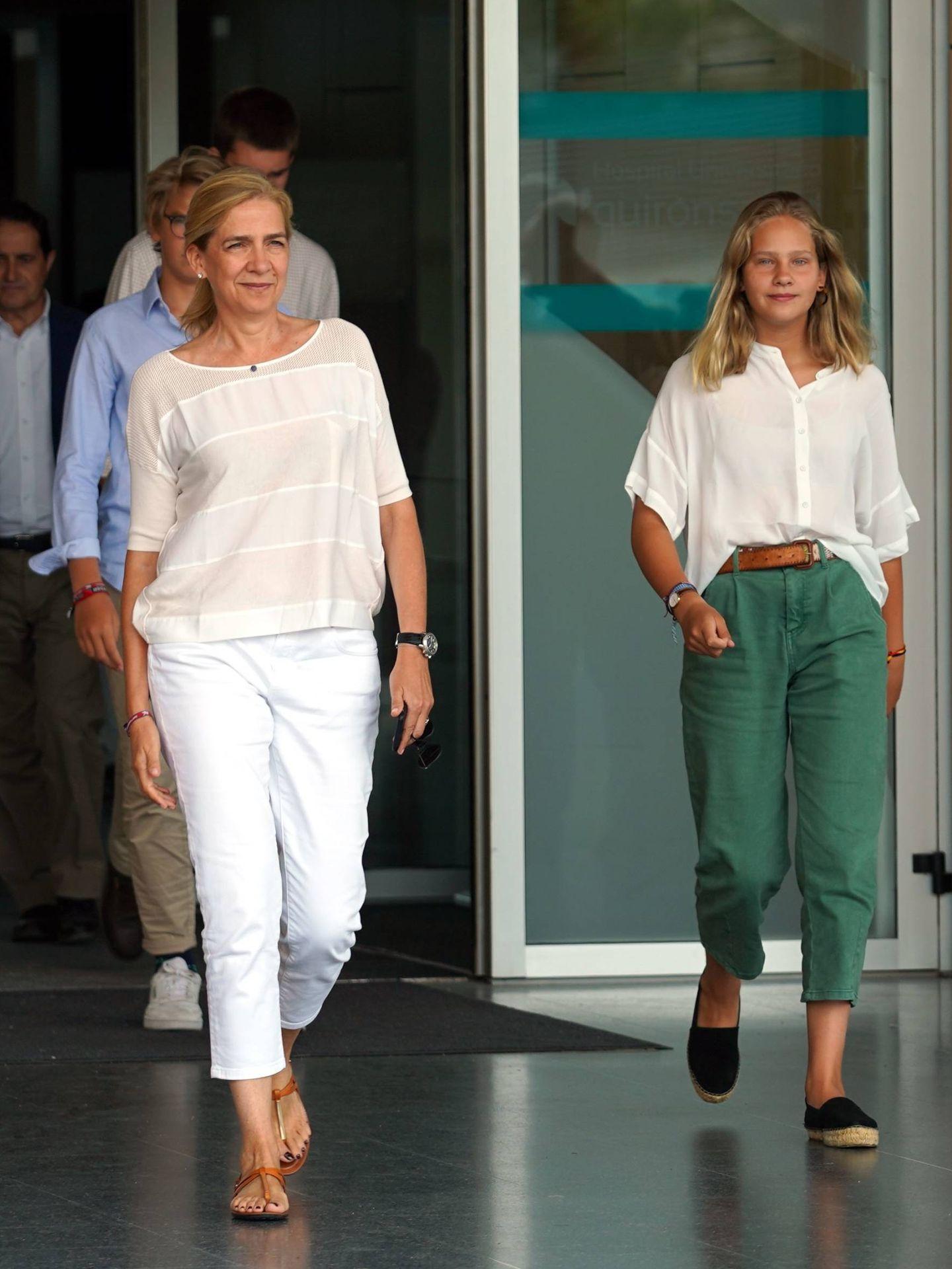 La infanta Cristina e Irene Undargarin. (Cordon Press)