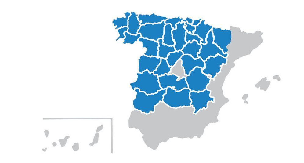 Foto: Puntos de la geografía española donde más tardará en llegar la recuperación inmobiliaria. Fuente: Solvia.