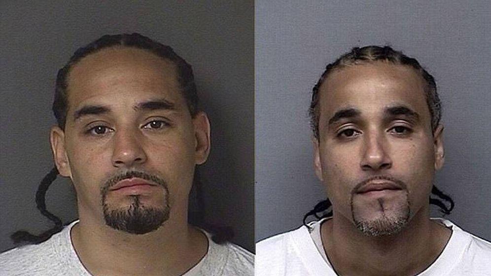 Foto: El reo y su doble. (Kansas Police Department)