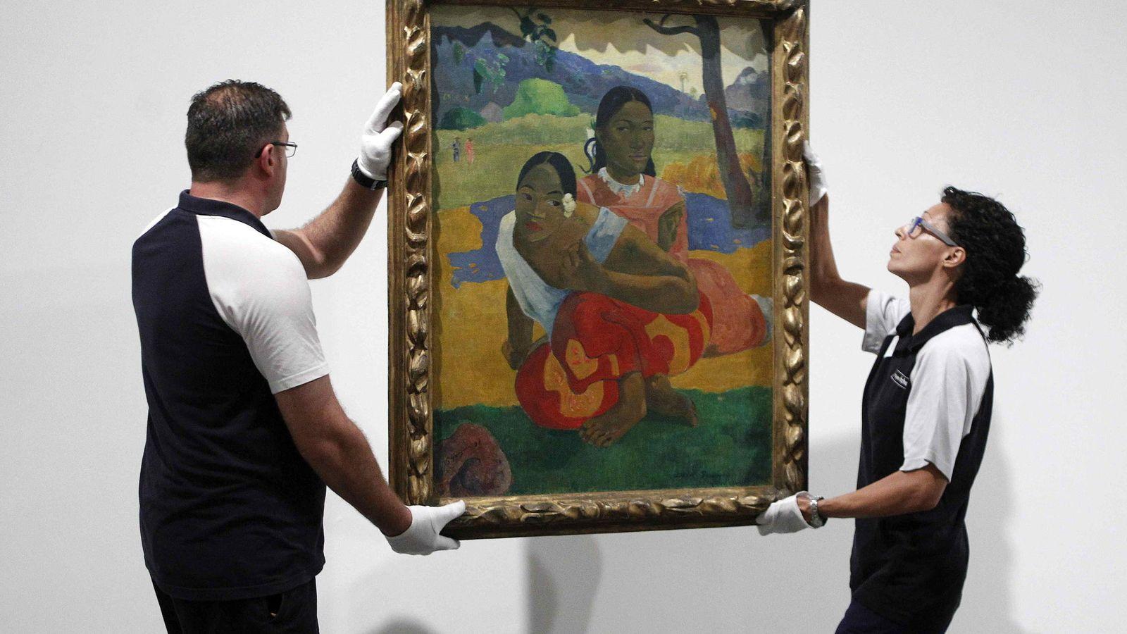 """Foto: """"Nafea faa ipoipo"""", de Gauguin, cuelga ya en el Museo Reina Sofía (EFE)"""