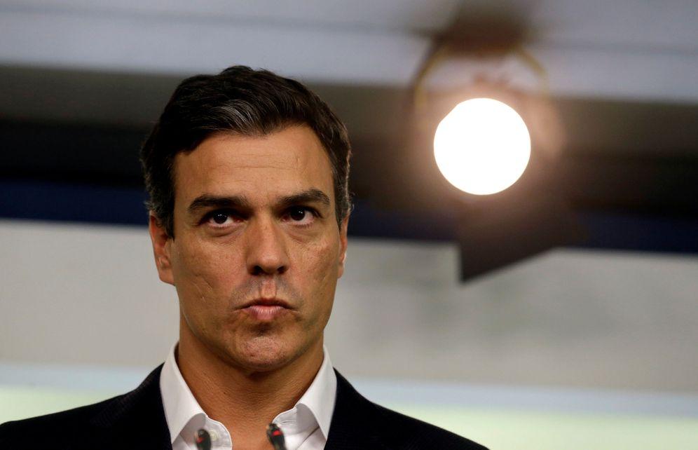 Foto: Pedro Sánchez, en rueda de prensa en Ferraz el pasado 5 de septiembre. (Reuters)