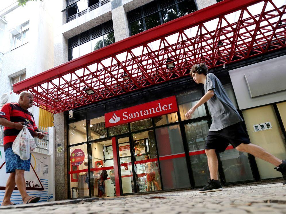 Foto: Oficina del Banco Santander, en Brasil. (Reuters)