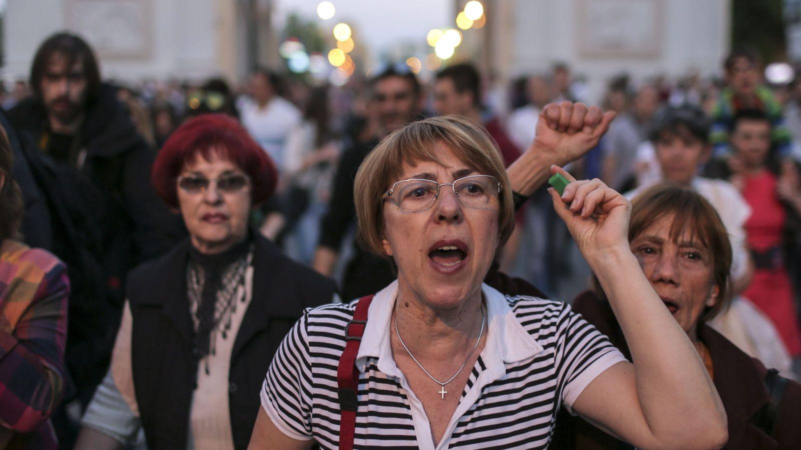 Foto: Imagen de archivo de una protesta en Skopje, Macedonia del Norte. (EFE)