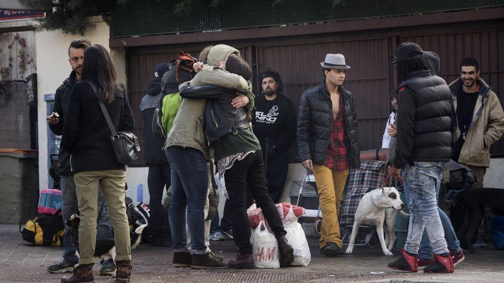 Foto: El desalojo del Colegio Mayor San Juan Evangelista, conocido como 'El Johnny', el pasado noviembre de 2015. (EFE)