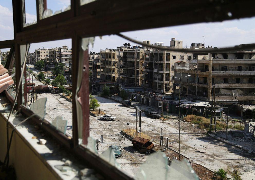 Foto: Vista general de la calle Saif Al-Dawla, destrozada por los bombardeos del régimen de Bachar al Asad contra Alepo, el pasado domingo 8 de junio (Reuters).