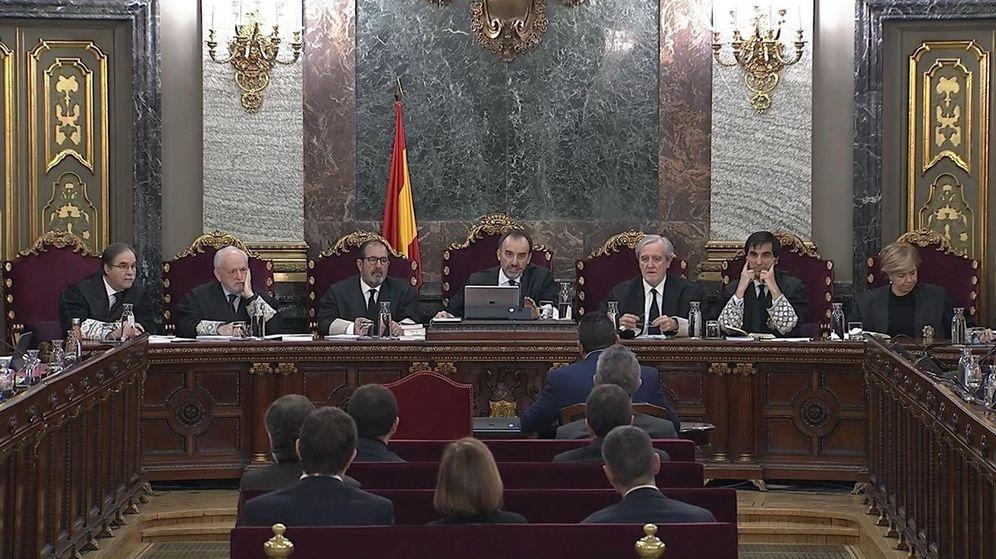 Foto: Vista de la sala del Tribunal Supremo en la que se celebra el juicio del 'procés'. (EFE)