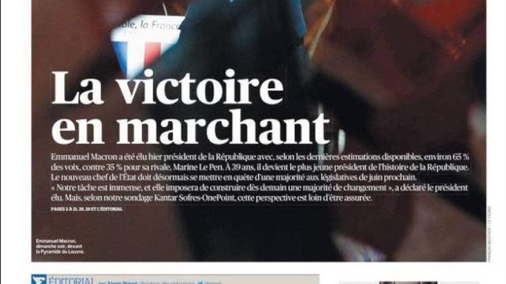 La prensa celebra la victoria de Macron