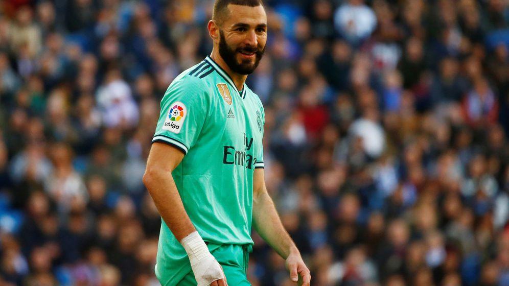 Foto: Karim Benzema, durante el Real Madrid-Espanyol jugado el pasado sábado. (Reuters)