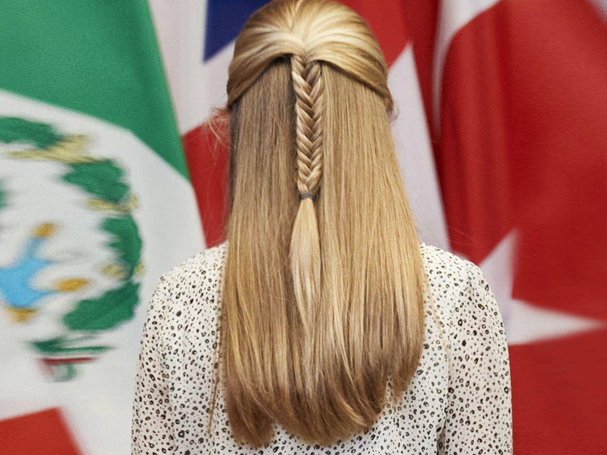 Foto: El impoluto cabello de la princesa Leonor. (Getty)