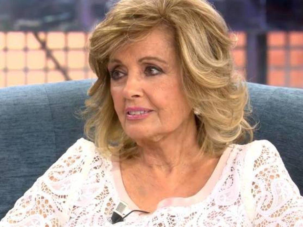 Foto:  María Teresa Campos, en 'Sábado Deluxe'. (Mediaset)
