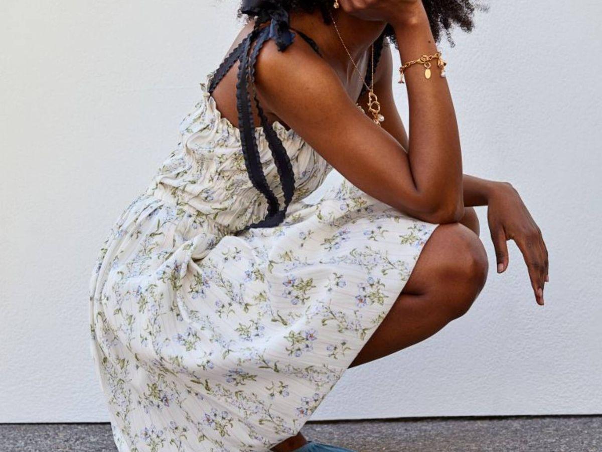 Foto: El vestido de HyM en colaboración con Brock Collection. (Cortesía)