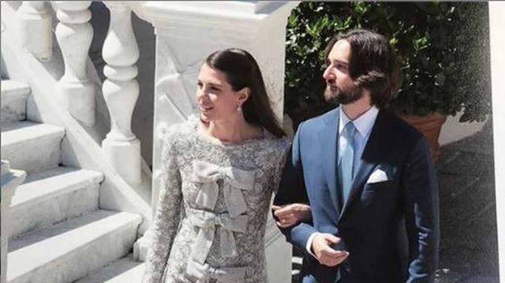 Foto: Dimitri Rassam y Carlota Casiraghi, recién casados. (Casa Principesca de Mónaco)