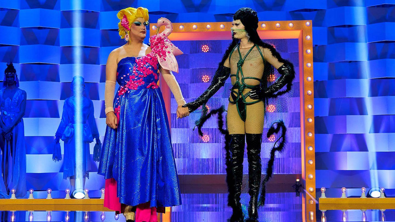 The Macarena y Dovima Nurmi, en 'Drag Race España'. (Atresmedia)