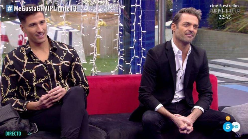 Foto: Gianmarco Onestini y Hugo Castejón, en 'GH VIP 7'. (Telecinco)
