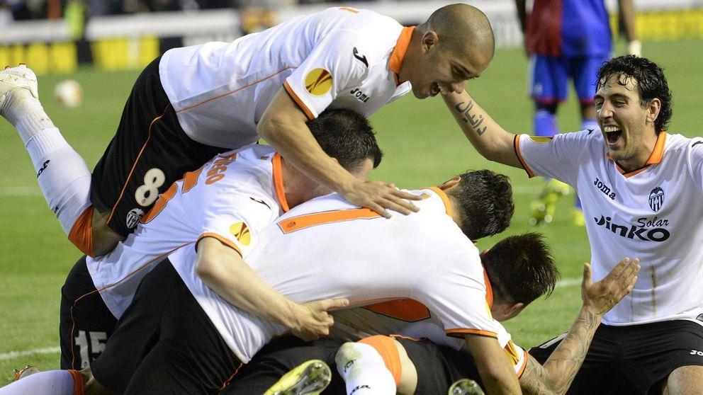 Una 'manita' tras prórroga permite al Valencia eliminar al Basilea