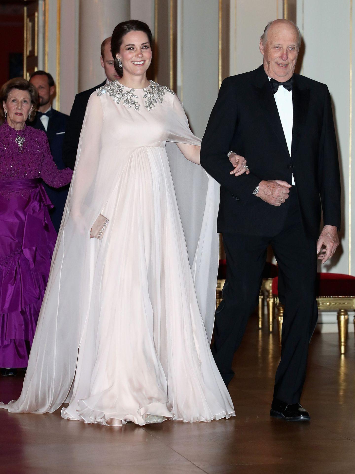 La duquesa de Cambridge, en Noruega. (Getty)