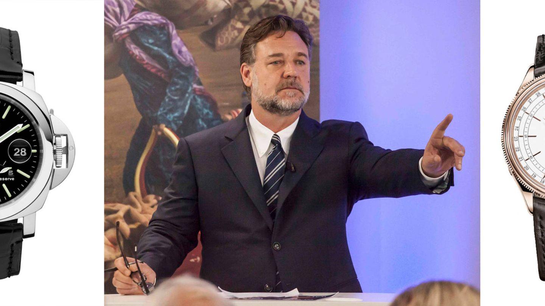 A subasta. Russell Crowe pondrá a la venta un Panerai Luminor GMT Automatic (7.300 euros) y un Rolex Cellini Moonphase (24.750 euros). (Foto: Reuters)