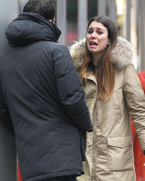 La pareja discutiendo en Nueva York en diciembre de 2012