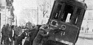 Post de Huelgas, guerra y conflictos: la historia convulsa del tranvía de Barcelona