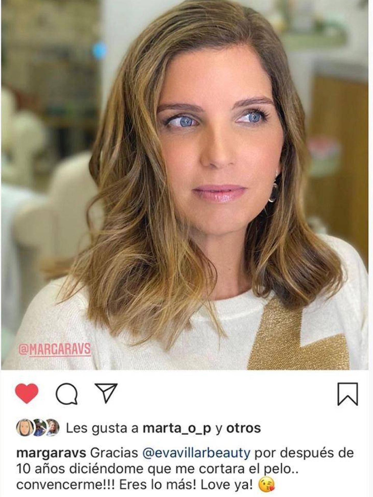 El rejuvenecedor cambio de look de Margarita Vargas. (Instagram Stories @evavillarbeauty)