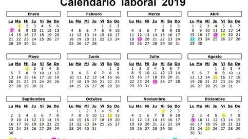 Calendario laboral de 2019: ocho festivos nacionales y solo un gran puente... en agosto