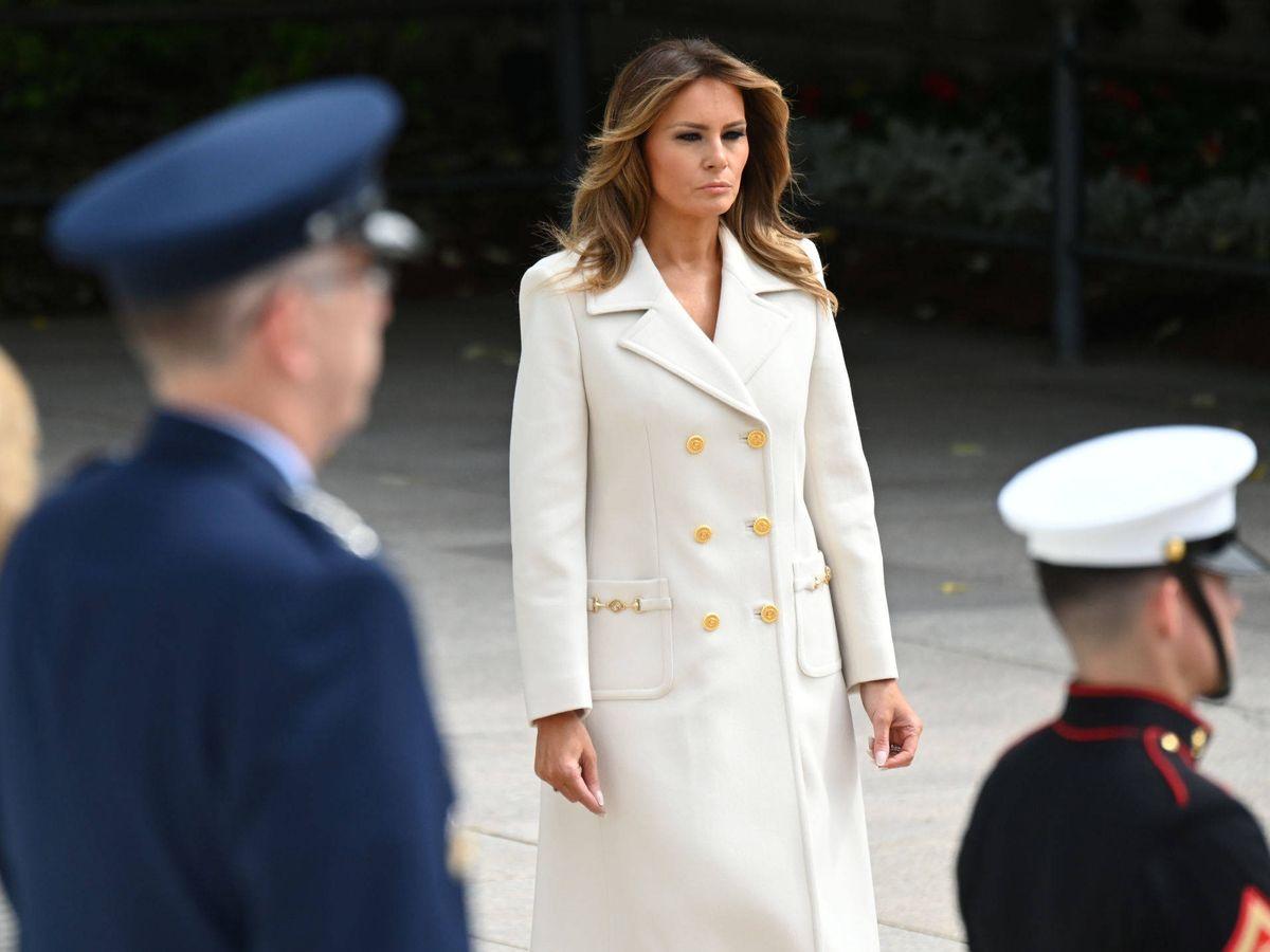 Foto: Melania Trump, vestida de Gucci. (Reuters)