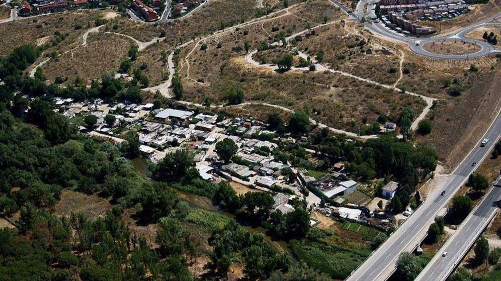 Foto: Asentamiento irregular de Las Sabinas, entre Móstoles y Arroyomolinos. (Ayuntamiento de Móstoles)