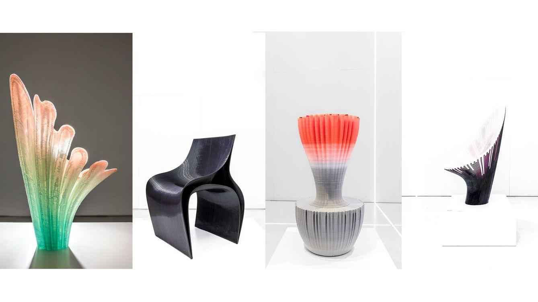 Foto: Sillas 'Rise', 'Peeler', 'Robotica' y 'Bow' producidas por la empresa Nagami. (Delfino Sisto Legnani y Marco Cappelletti)