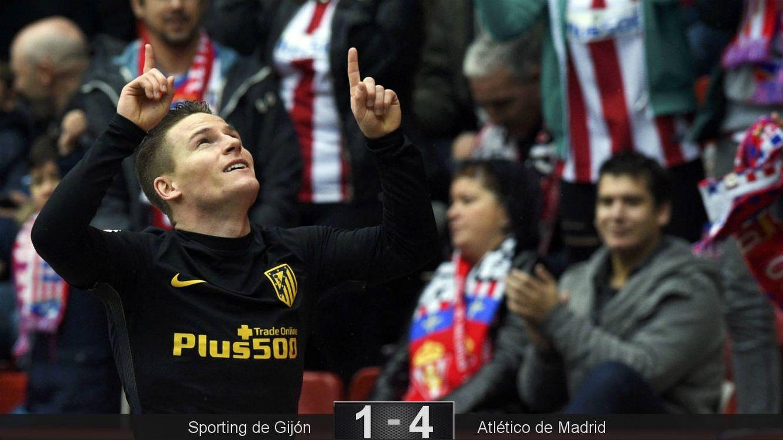 Foto: Gameiro realizó el 'hat-trick' más rápido de la historia de LaLiga (Eloy Alonso/Reuters).