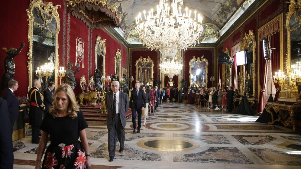 Foto: Imagen general de la recepción real en palacio por el Día de la Hispanidad. (Gtres)