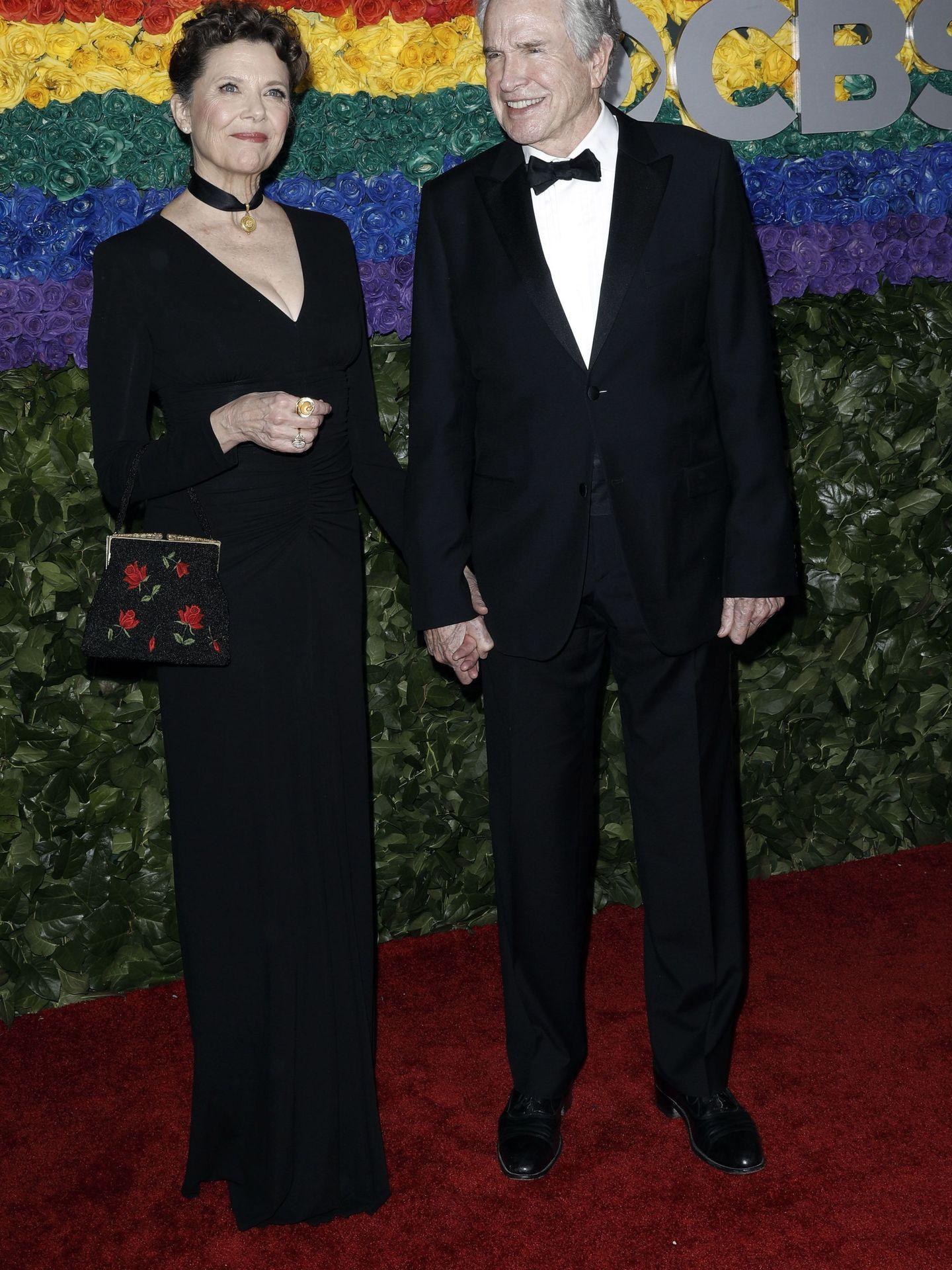Warren Beatty, con su mujer, Annette Bening. (Reuters)
