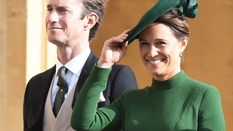 James Matthews y su mujer, Pippa Middleton, en la boda de la princesa Eugenia de York. (EFE)