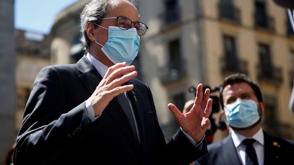 Foto: El presidente de la Generalitat, Quim Torra (i) acompañado del vicepresidente del Govern, Pere Aragonès. (EFE)