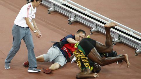 Lo de Bolt fue un accidente laboral y menos mal que tenía un pie en el aire