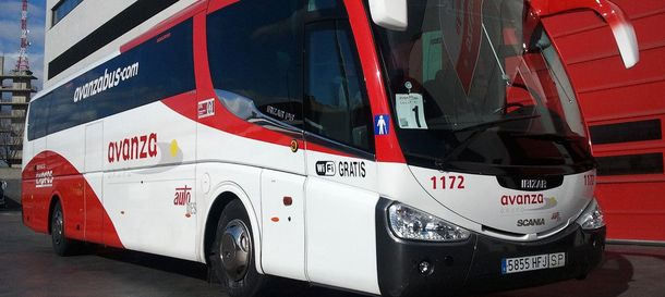Foto: Uno de los auntobuses de la flota del Grupo Avanza.