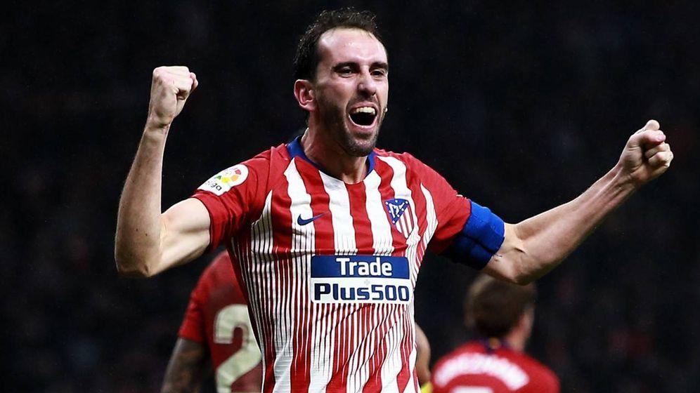 Foto: Godín celebra su gol al Athletic que dio la victoria al Atlético en la prolongación. (EFE)
