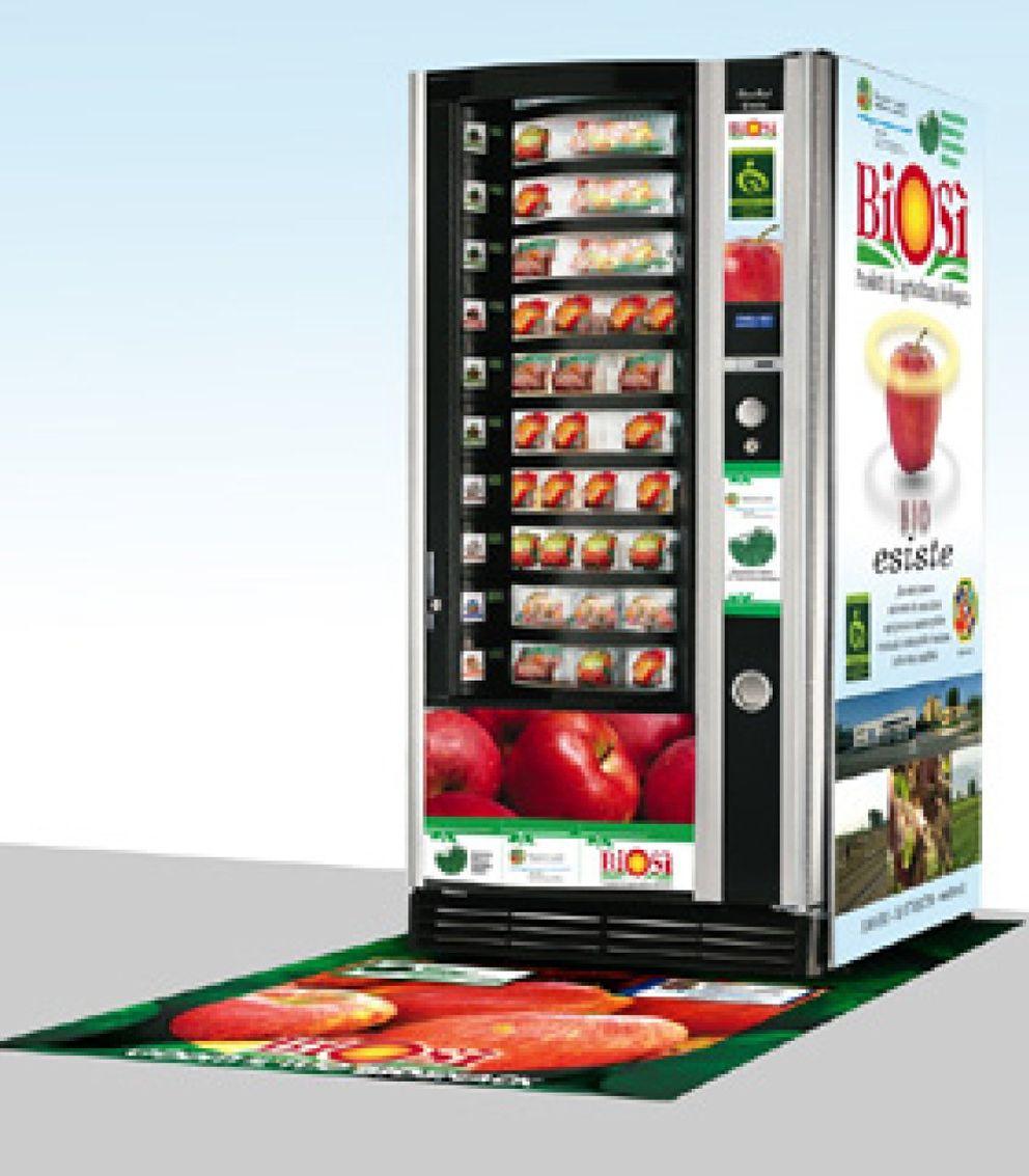 Foto: Manzanas 'bio' en lugar de un bollo: la máquina de la oficina se tiñe de verde