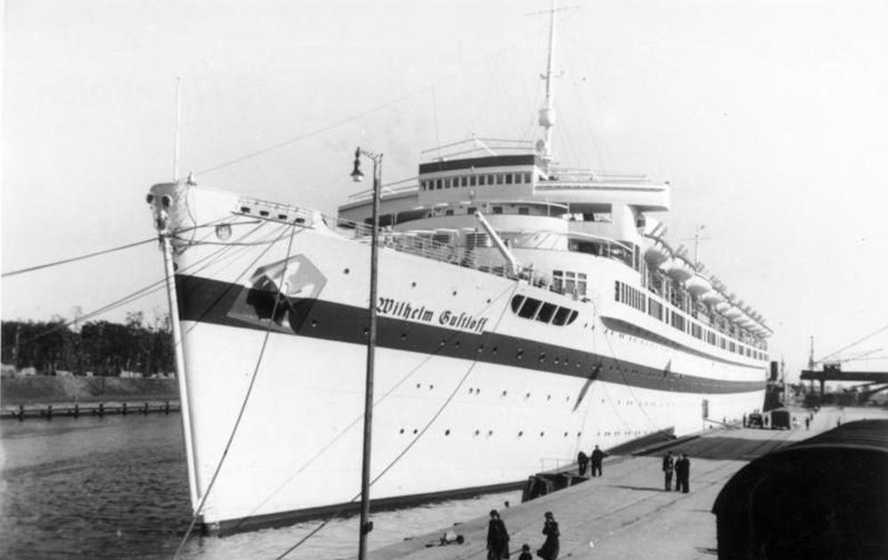 Foto: El MV Wilhelm Gustloff en Danzig. (Bundesarchiv)