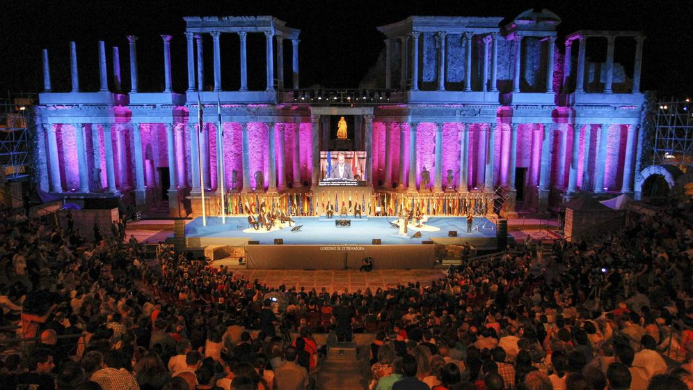 Foto: Imagen de archivo del teatro romano de Mérida. (EFE)