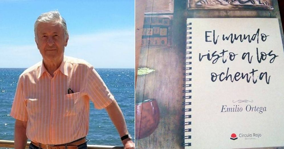 Foto: Emilio, de 82 años, no vendía ni un libro y ahora agota existencias. (Emilio Ortega/@CrisGarrV)