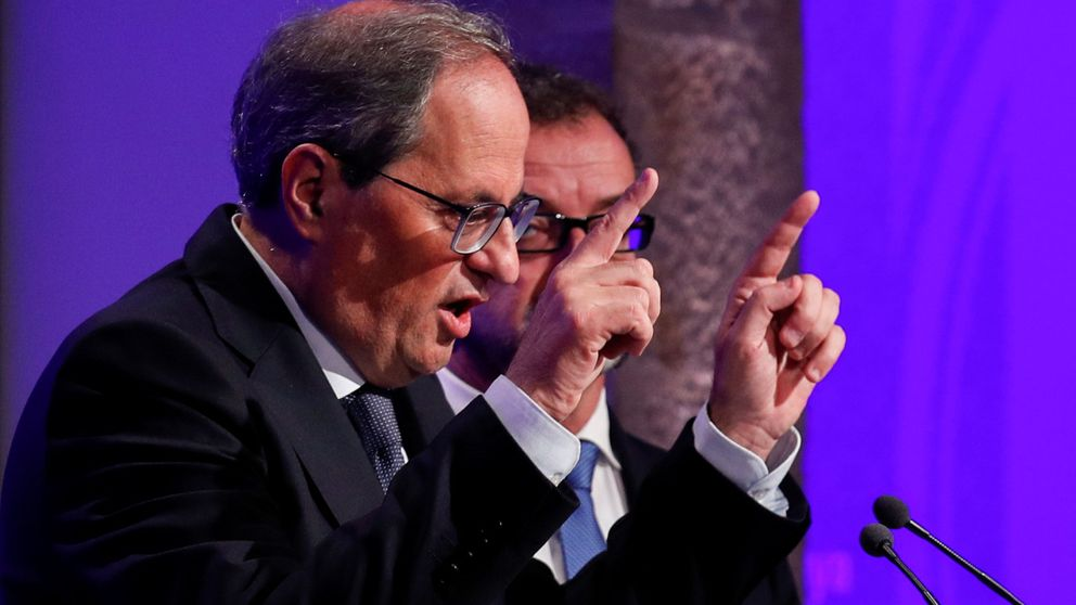 Torra admite contradicciones entre llamar a la protesta y enviar a los Mossos