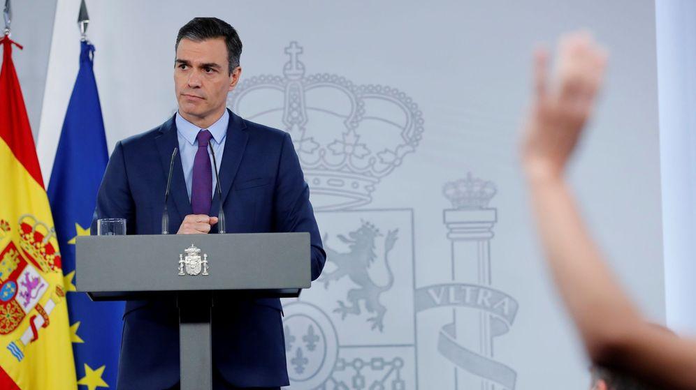 Foto: El presidente del Gobierno, Pedro Sánchez, en su última comparecencia. (EFE)