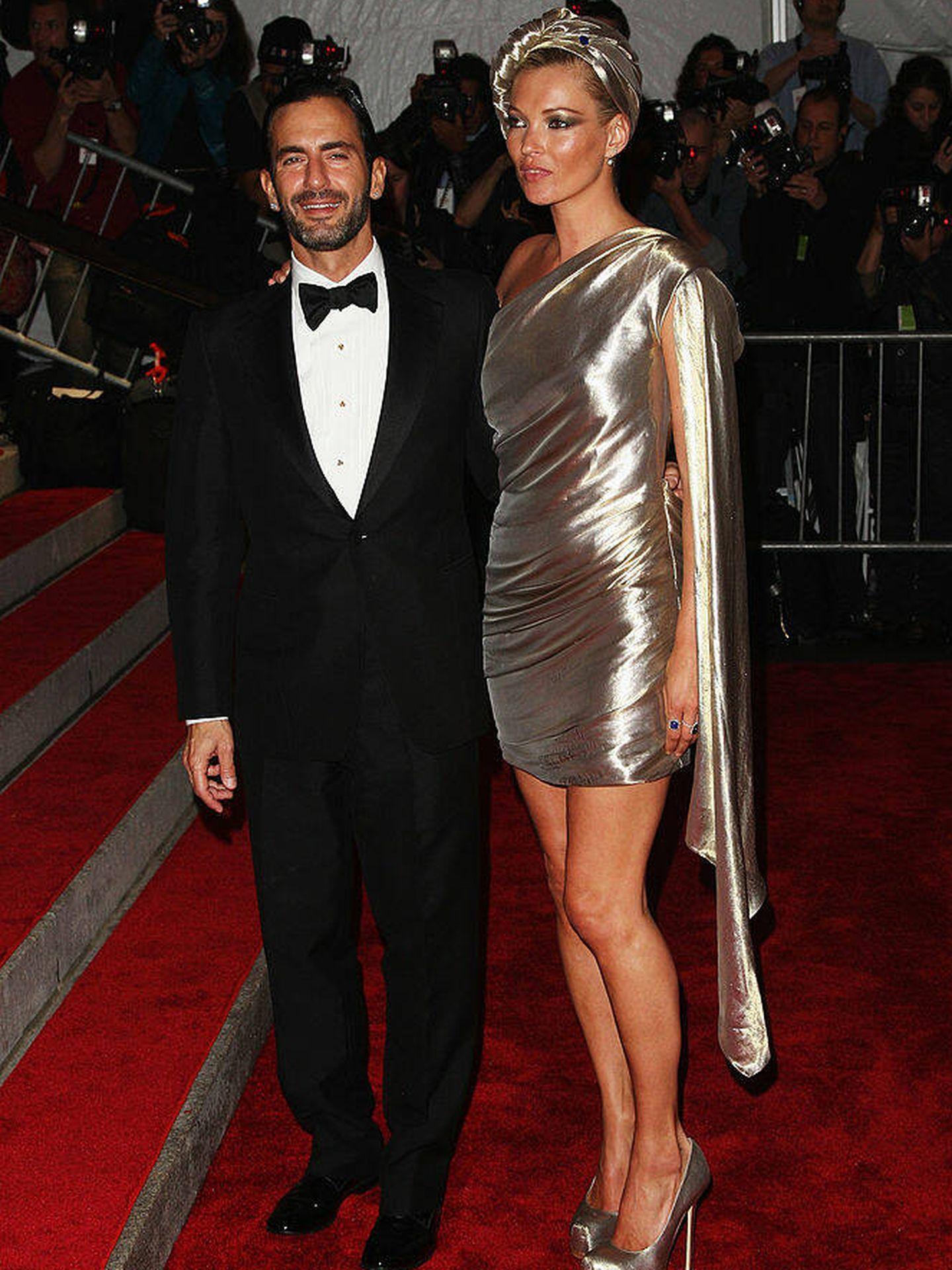 Kate Moss y Marc Jacobs, en la gala del MET 2009. (Getty)