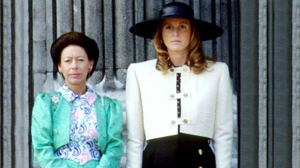 Foto: La princesa Margarita y Sarah Ferguson en una imagen de archivo. (Cordon Press)