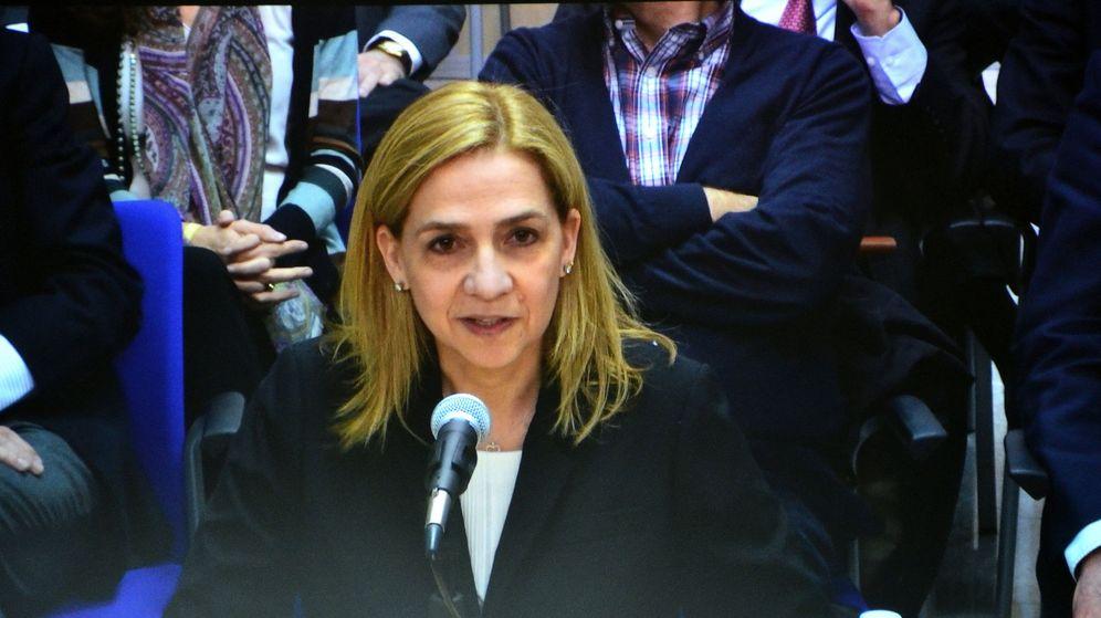 Foto: La Infanta Cristina ha guardado silencio en el banquillo