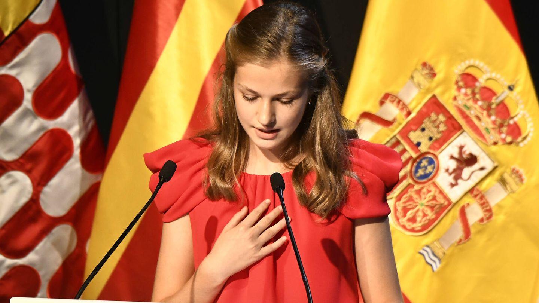 La princesa Leonor, durante su intervención. (LP)