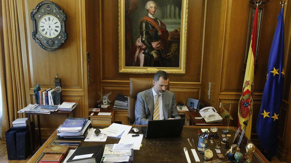 Foto: El Rey, Felipe VI, en su despacho (EFE)