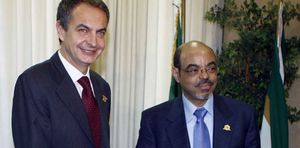 Foto: Zapatero recibe a un dictador africano acusado de violar derechos humanos